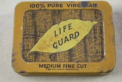 """""""Life Guard"""" Tobacco Tin - Manufactured By The Lifeguard Tobacco Ltd. Sydney Aus"""