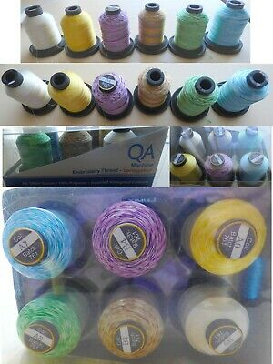 QA Variegated Machine Embroidery Thread Blue,Cream,Green,Purple,Brown,Yellow NEW