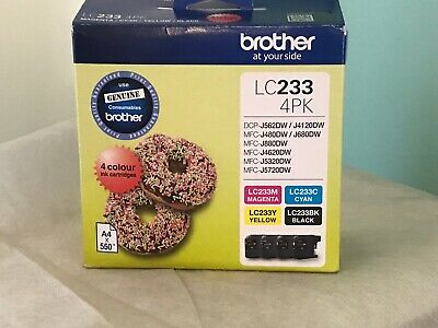 GENUINE Brother LC-233 4 Colour Value Pack