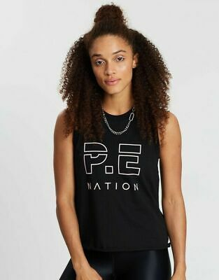 NWT Pe Nation Ladies Active Sports Gym Tank Top Singlet T Back Workout Vest SZ M