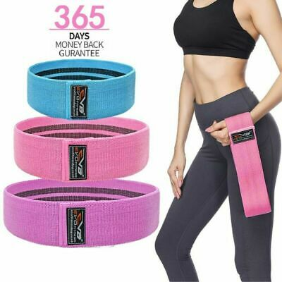 EVO Fabric Resistance Bands Butt Exercise Loop Circles Set Legs Glutes Women