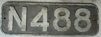 Victoria Railways - VR - Steam loco plate N488 - Original.