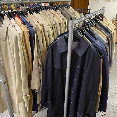 Vintage Wholesale Job Lot Macs Trench Coats Raincoats Mens Womens 61 Pieces  #5