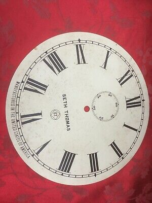 Vintage Metal Seth Thomas Replacement Dial NOS  With Patina