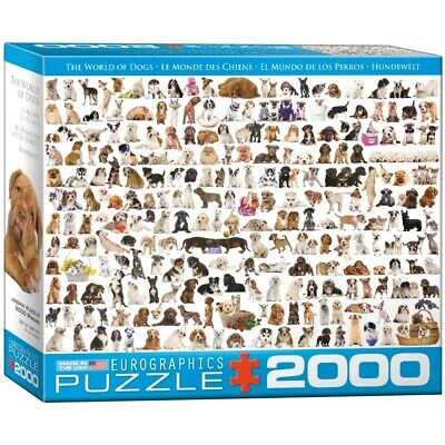 "EG82200581 - Eurographics Puzzle 2000 Pc - The World of Dogs """"NEW"""""