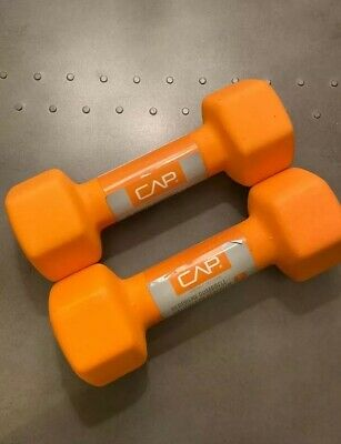CAP Hex Neoprene 8 lb Pound Set 16 lbs Dumbbell Weight - New - IN HAND SHIPS NOW