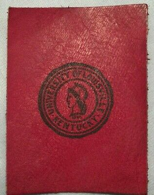 Early 1900's Tobacco Leather College Seals University of Louisville Printed Seal
