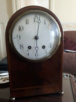 Fine Antique French Mahogany Mantel Clock 8 Day Striking Mantle Clock C1889