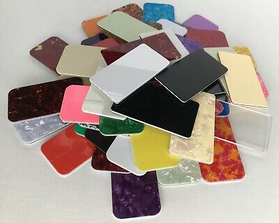 Sample of Pickguard Sheet scratchplate material: many colours 1 3 4 ply