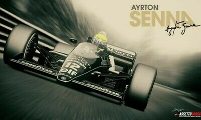 AYRTON SENNA Poster G.O.A.T Goat Greatest All Time Poster [24 x 36] Inch 3