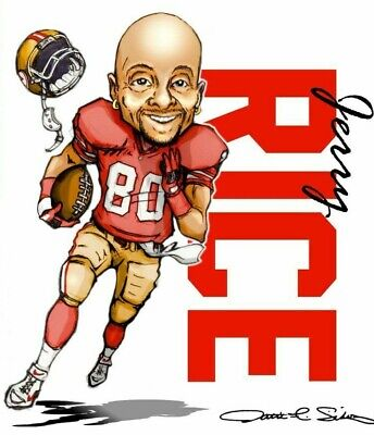 JERRY RICE Poster G.O.A.T Goat Greatest All Time Poster [24 x 36] Inch 2