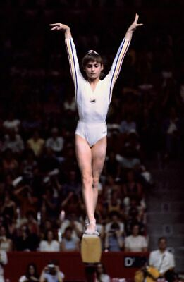 NADIA COMANECI Poster G.O.A.T Goat Greatest All Time [24 x 36] Inch 1