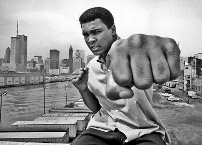 MUHAMMAD ALI Poster G.O.A.T Goat Greatest All Time [24 x 36] Inch C