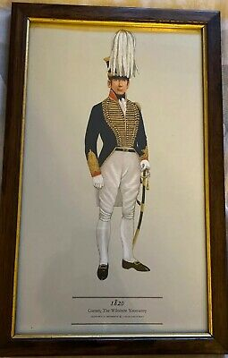 PH Smitherman British Military Uniform Art Print 1820 Cornet Wiltshire Yeomanry