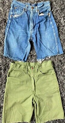 Vintage 1950s Boys Child Youth Grants Circle G Cutoff Jeans Shorts