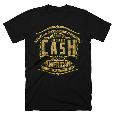 Johnny Cash Inspired T Shirt Folsom Prison Original Design Old Yellow Water H20 13 99 Picclick Uk