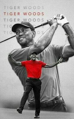 TIGER WOODS Poster G.O.A.T Goat Greatest All Time [24 x 36] Inch 1