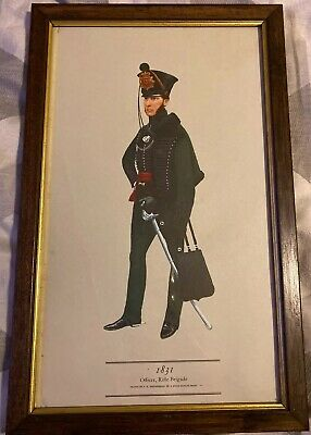 PH Smitherman British Military Uniform Art Print 1831 Officer Rifle Brigade