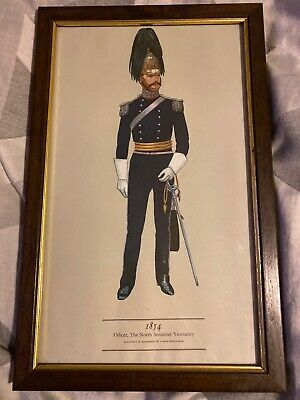 PH Smitherman British Military Uniform Print 1854 Officer N.Somerset Yeomanry
