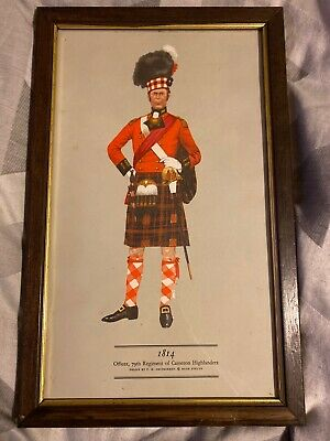 PH Smitherman British Military Uniform Art Print 1814 Cameron Highlanders