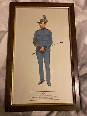 PH Smitherman British Military Uniform Art Print 1903 Sergeant London Yeomanry