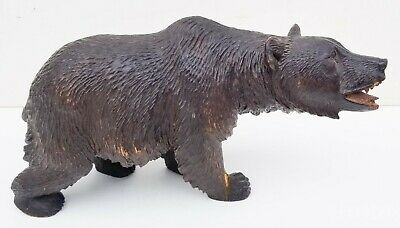 Swiss Bear Black Forest Carving Estate Inventory 21 German Bavarian Antiques