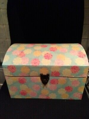 Storage Trunk Chest Carry Case with Rope Handles Toy Box Keepsakes