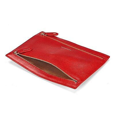 Aspinal of LondonLeather MultiCurrencyWalletin Berry Lizard. RRP £95.