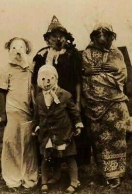 Antique Halloween Old Days Photo 866 Oddleys Strange & Bizarre