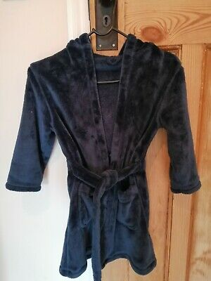 Boys Marks And Spencer Blue Dressing Gown