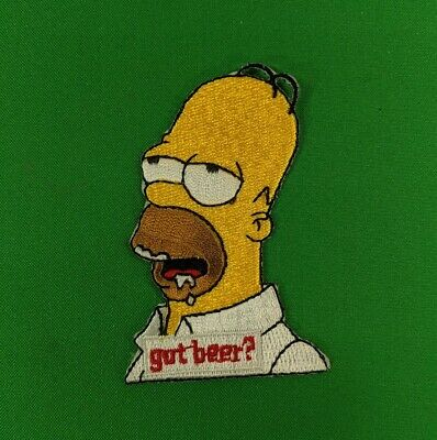 """Got Beer? 3/"""" Embroidered Iron-On Patch HOMER SIMPSON"""