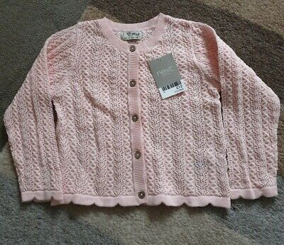 BNWT Next Girl's  Pink Cardigan Age 18-24 Months