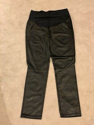 H & M Faux Leather Maternity  Leggings