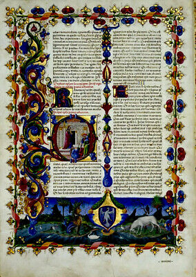 """illuminated Manuscripts- MOUNTED  FOUR EXHIBITION GRADE  12x16"""" Reproductions"""