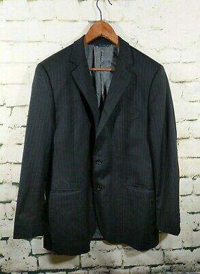 Brooks Brothers Wool Blazer Fitzgerald Made in Italy stripe gray Mens 42 R
