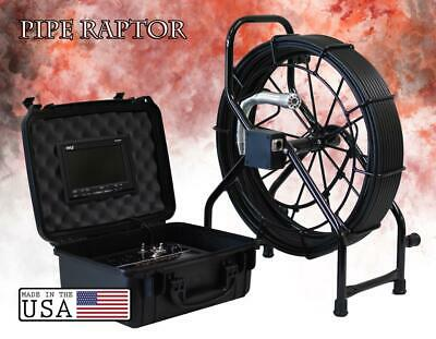 150' Color Sewer Camera 512hz Sonde Video Pipe Inspection System PIPE RAPTOR GLS