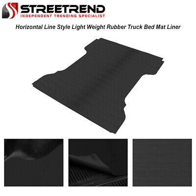 F350 F450 Superduty 8 Feet 96 Long Bed Topline Autopart Black Rubber Horizontal Line Truck Bed Floor Mat Liner v2 For 99-16 Ford F250