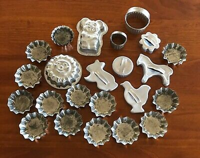 Vintage Cookie Cutters, Moulds And Cases