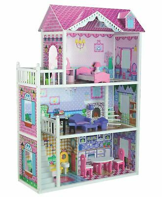 New Children Large Wooden Bubbadoo Bratz Doll House Barbie Toys Cot Play Gift TK