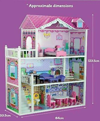 New Children Large Wooden Bubbadoo Bratz Doll House Barbie Toys Cot Play Gift AU