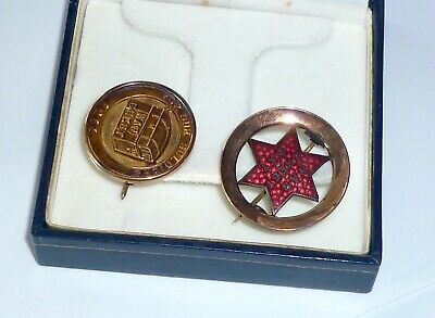 2 WWI 'WAR CHEST' 9 Ct Gold Badges. 1917 & Ca 1916. NSW 'FOR OUR SOLDIERS' Exc✔️