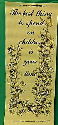 HOBBYTEX  PICTURES # 5183 Children & Time Wallhanging WITH INSTRUCTIONS