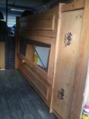 antique pine single wardrobe 6ft3ft good condition a very nice example