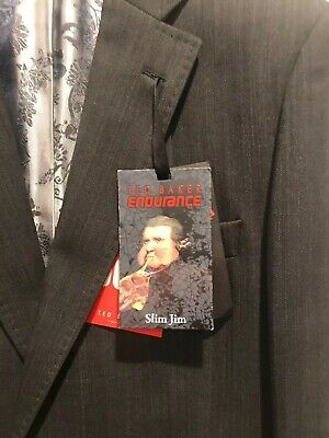 Ted Baker - Endurance Slim Jim Suit - Charcoal - Size 44/36 - Brand New