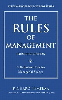 Richard Templar - The Rules of Management_Expanded Edition Pdf