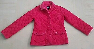 Gap Kids Hot Pink Barbour Style Jacket Girls Age 8