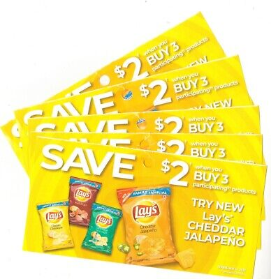 8 x Save $2.00 on Lays Potato Chips Products Coups (Canada)