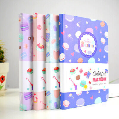 """Macaroon"" 1pc Cute Monthly Weekly Planner Agenda Diary Journal Free Note"