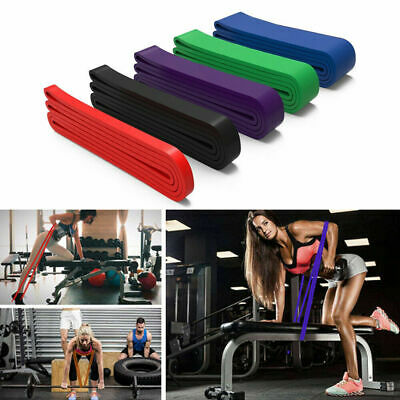 Resistance Pull Up Exercise Bands Tube Home Gym Fitness Natural Latex Assist *