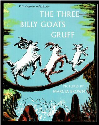 THE THREE BILLY GOATS GRUFF ~ Pictures by Marcia Brown ~ Children's Book NEW